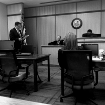 Chief Deputy Prosecutor Steven Owen acts as defense counsel and cross-examines FCM George Shaheen.