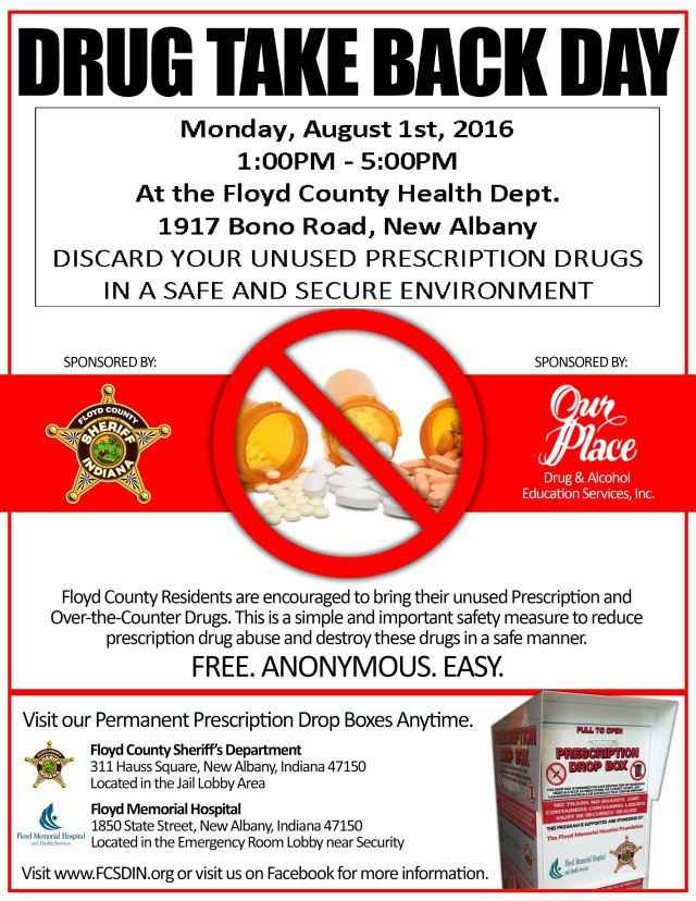 Drug Take Back Poster August 1